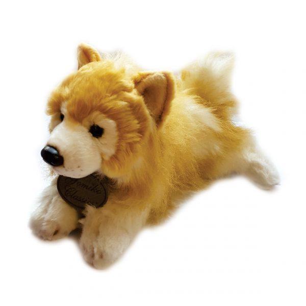 عروسک پولیشی طبیعی سگ پومرانین
