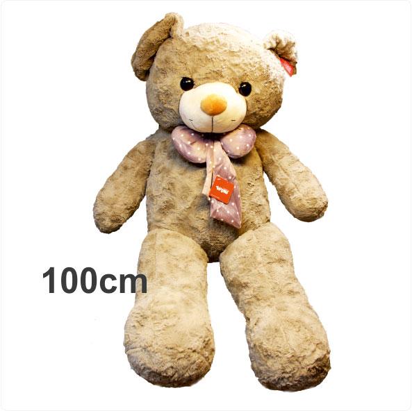 عروسک خرس بزرگ پاپیوندار