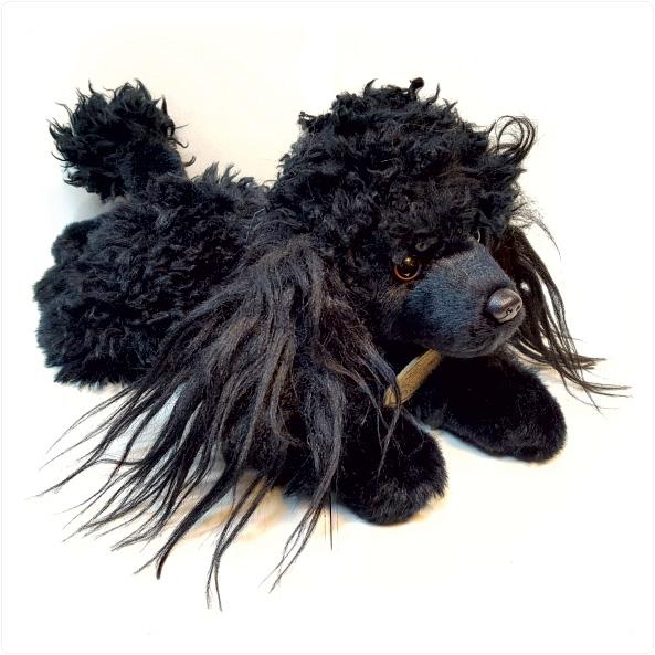 عروسک پولیشی سگ پودل سیاه