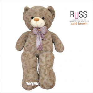 عروسک خرس بزرگ RUSS سایز 140 سانتی قهوه ای