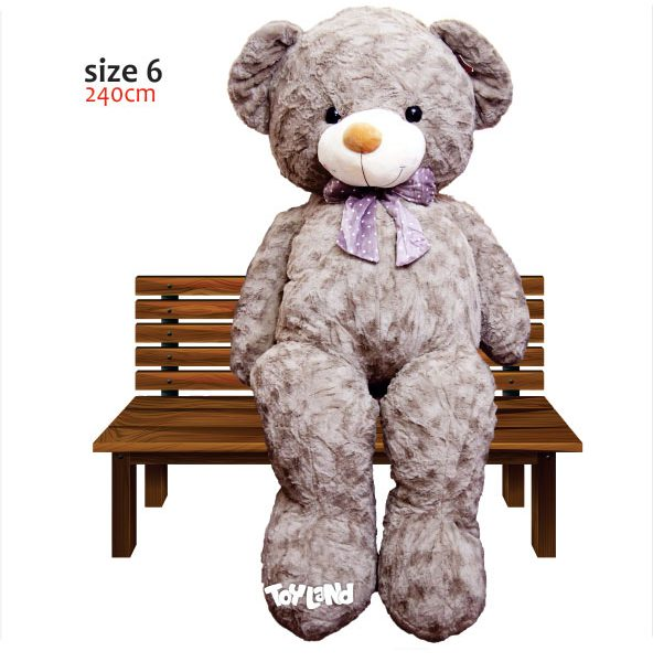 عروسک خرس 3 متری صورتی