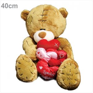 عروسک پولیشی خرس ولنتاین 5 قلبی