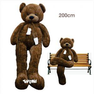 عروسک خرس بزرگ قهوه ای شالگردنی