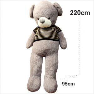 عروسک خرس بزرگ لباسدار