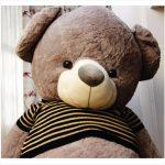 عروسک خرس بزرگ پولیشی طوسی
