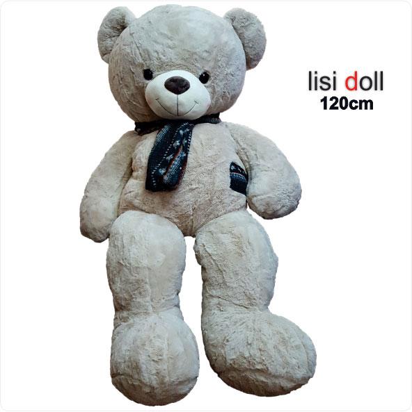 عروسک خرس شالگردن دار 120 سانتی