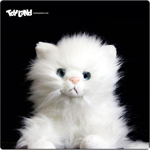 عروسک پولیشی گربه پرشین سفید نمایشی