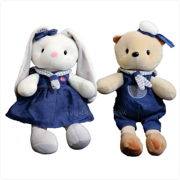 عروسک پولیشی زوج خرس و خرگوش