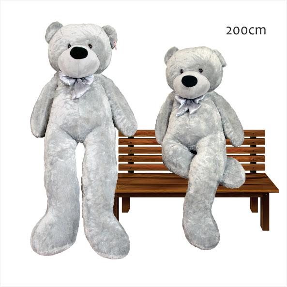 عروسک خرس بزرگ خاکستری رنگ