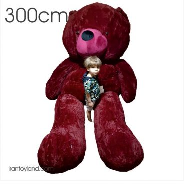 عروسک خرس بزرگ سه متری شالگردنی
