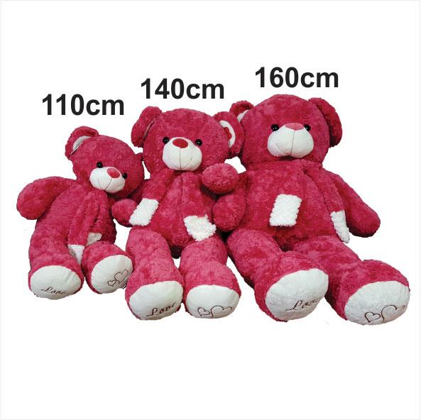 عروسک خرس بزرگ قرمز ولنتاین russ