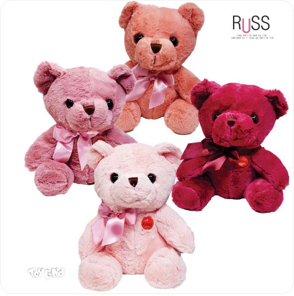 عروسک پولیشی خرس نشسته ولنتاین مارک RUSS