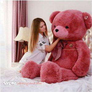 عروسک خرس بزرگ صورتی کاپیتان مورگان