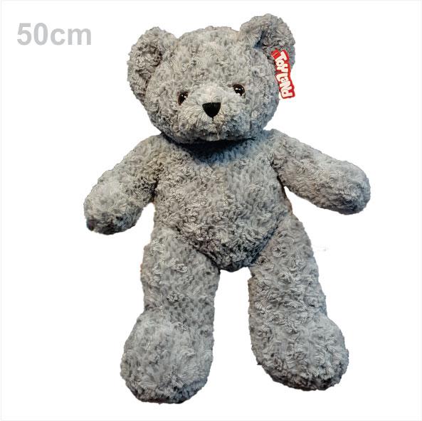 عروسک خرس تدی خاکستری 50 سانتی