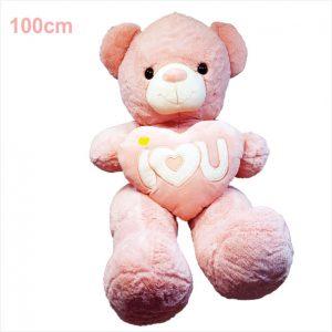 عروسک خرس ولنتاین فلب بدست صورتی