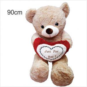 عروسک خرس ولنتاین قلب بدست