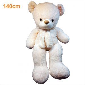 عروسک خرس شالگردنی کرم روشن