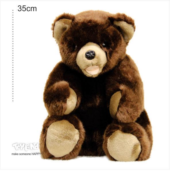 عروسک حیوانات طبیعی خرس قهوه ای