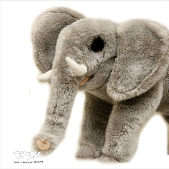 عروسک حیوانات طبیعی فیل طوسی
