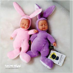 عروسک پولیشی نوزادی خرگوش لاکی بیبی