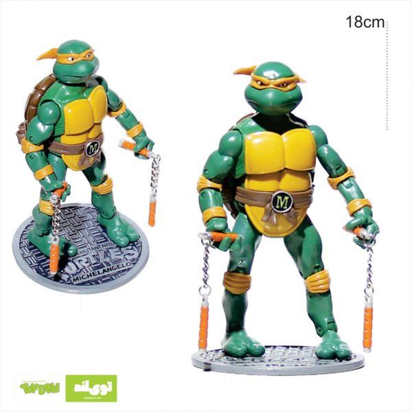 فیگور شخصیت کارتونی لاکپشتهای نینجا مایکل انجلو michael angelo