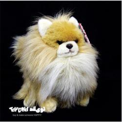 عروسک سگ پامرانین طبیعی