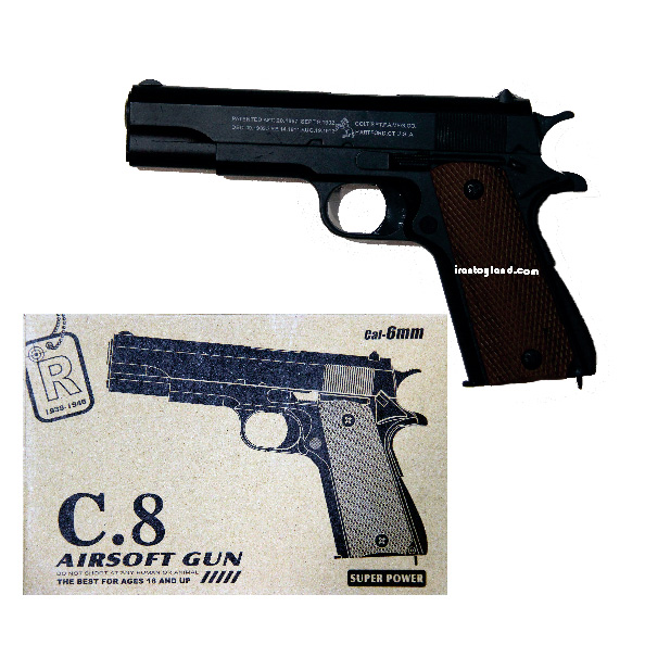 ماکت اسلحه کمری بادی6 میلیمتری