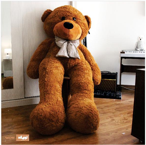 عروسک خرس بزرگ دو متری فهوه ای
