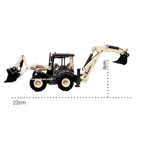 ماکت ماشین راهسازی بیل مکانیکی دو منظوره