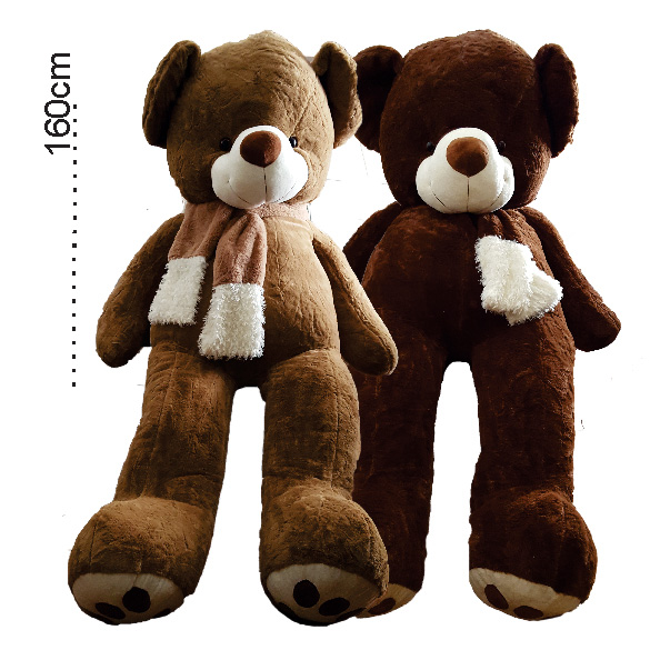 عروسک خرس بزرگ شالگردنی 160 سانتی