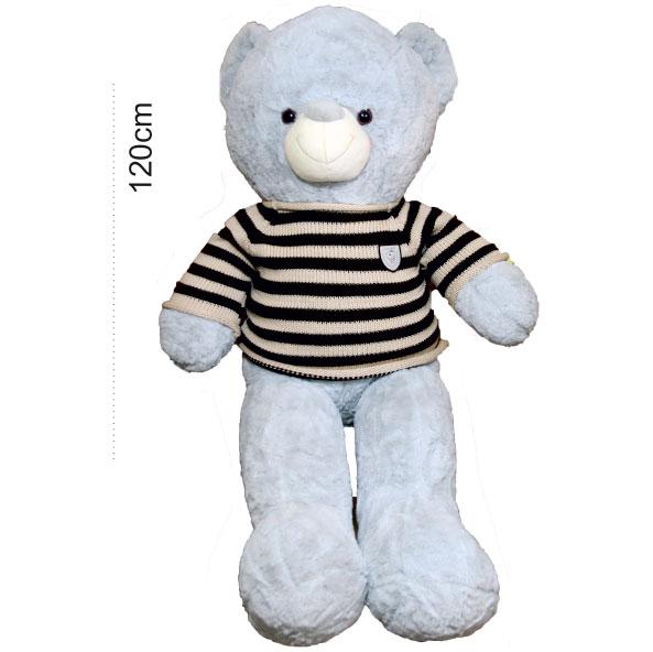 عروسک خرس بزرگ آبی رنگ