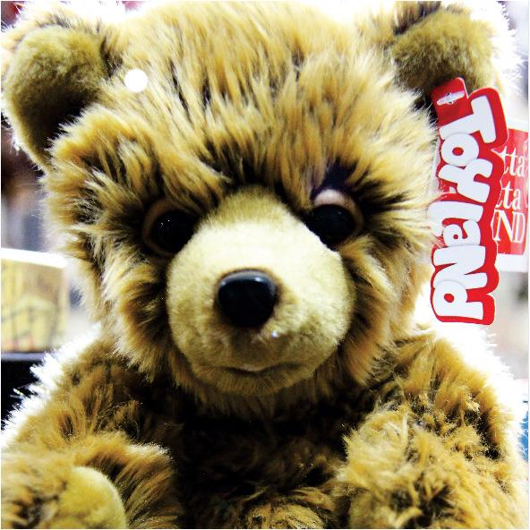 عروسک حیوانات طبیعی توله خرس قهوه ای