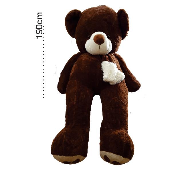 عروسک خرس بزرگ شالگردنی 190سانتی