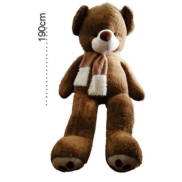 عروسک خرس بزرگ شالگردنی 160 سانتی عروسک خرس بزرگ شالگردنی 160 سانتی