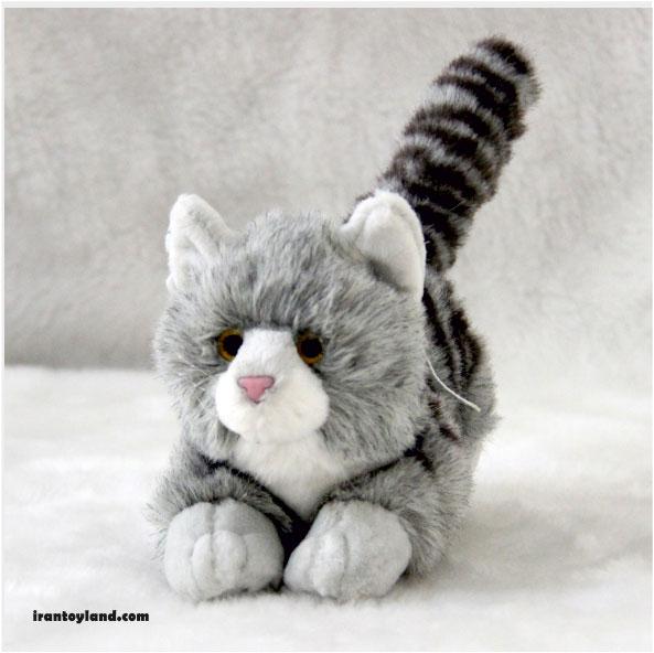 عروسک گربه پولیشی خاکستری طوسی