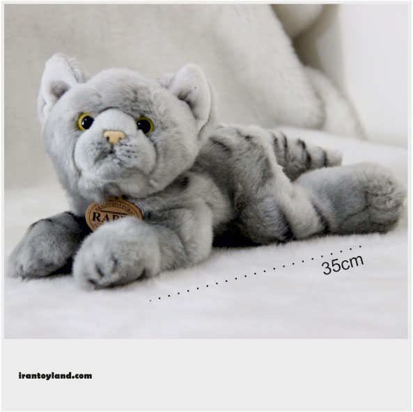 عروسک گربه خاکستری درازکش rappa