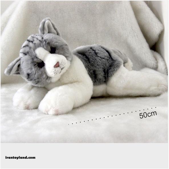 عروسک گربه خاکستری حیوانات طبیعی