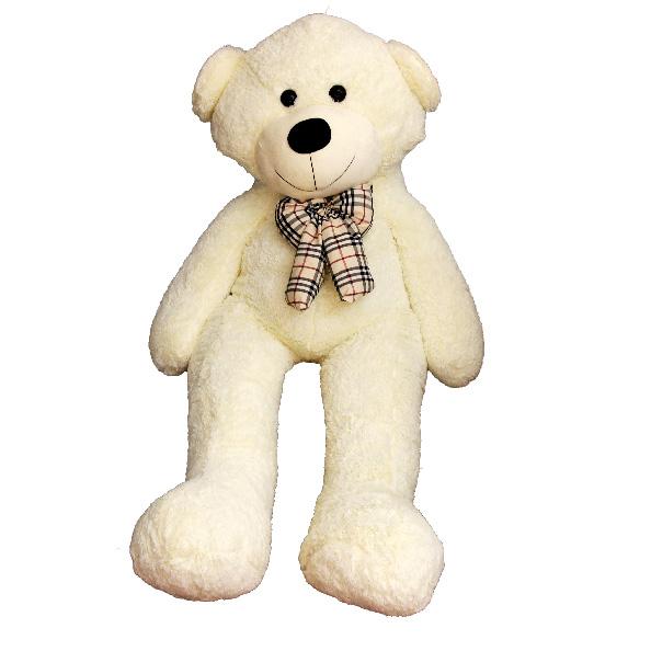 عروسک خرس بزرگ سفید پاپیون دار