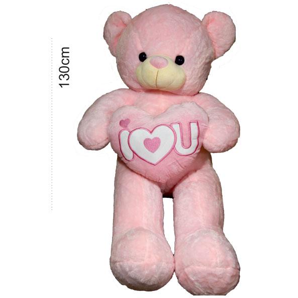 عروسک خرس قلب بدست صورتی