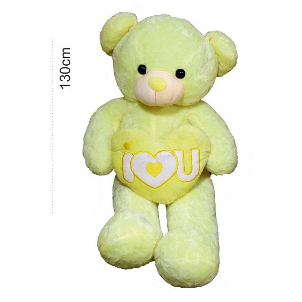 عروسک خرس قلب بدست زرد