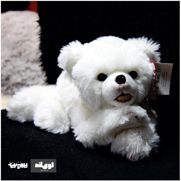 عروسک حیوانات طبیعی توله خرس قطبی
