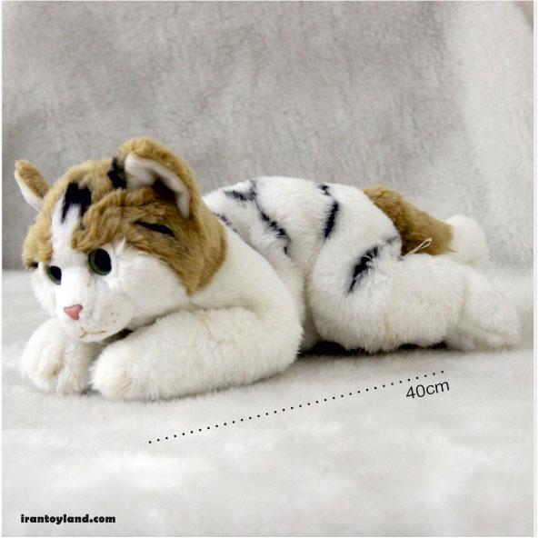 عروسک گربه کالیکو کت سفید
