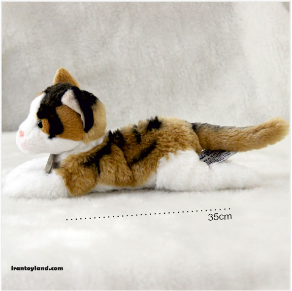 عروسک گربه زرد و مشکی سامی