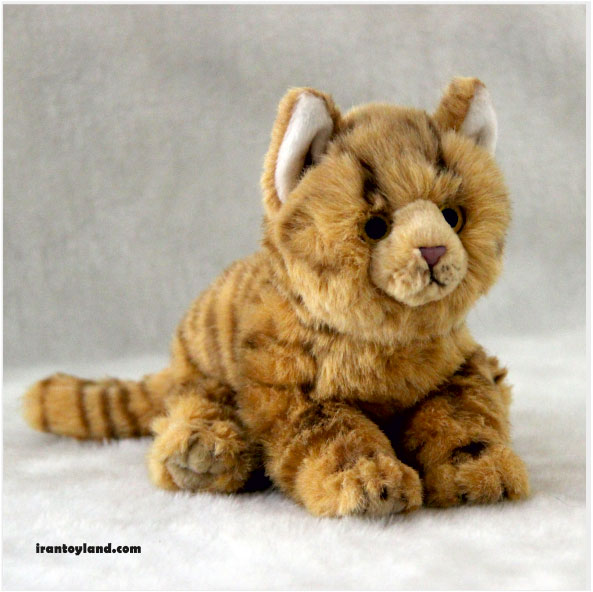 عروسک بچه گربه زرد