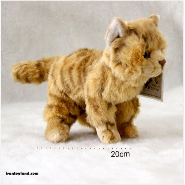 عروسک بچه گربه زرد ایرانی