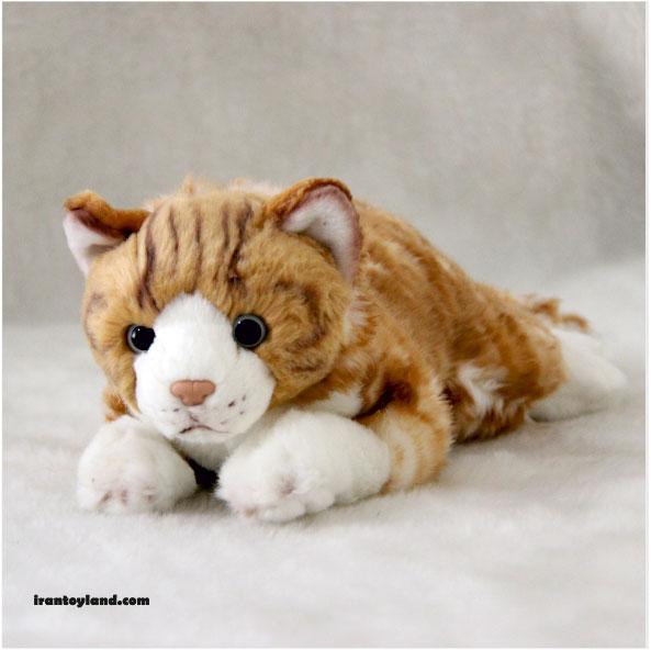 عروسک بچه گربه زرد درزاکش