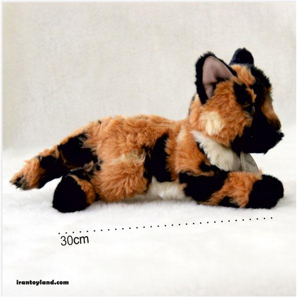 عروسک گربه تازی مشکی نارنجی