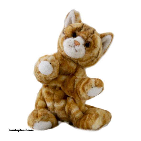 عروسک گربه زرد بازیگوش