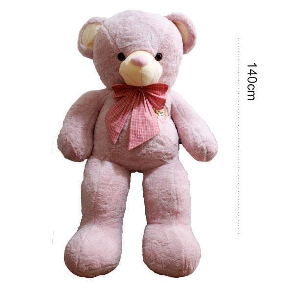 عروسک خرس بزرگ صورتی آروشا
