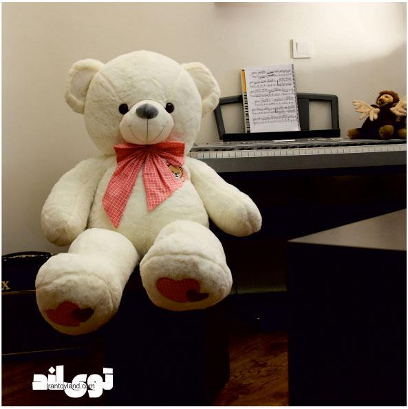 عروسک خرس بزرگ سفید آروشا